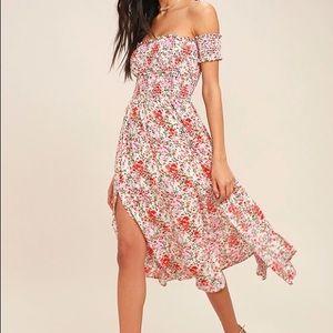 Like New Floral Off Shoulder Dress